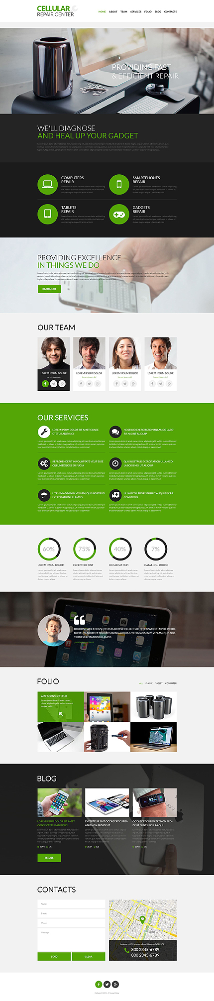 Cellular Repair Center WordPress Theme