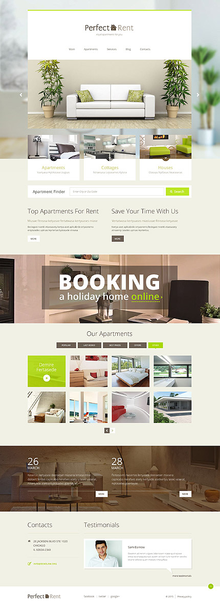 Apartment Rent WordPress Theme