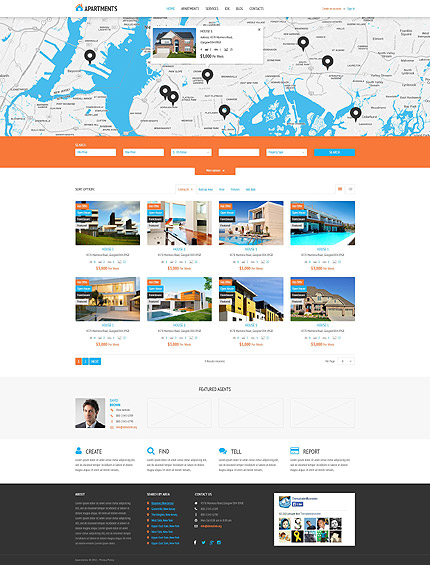 Real Estate WordPress Template