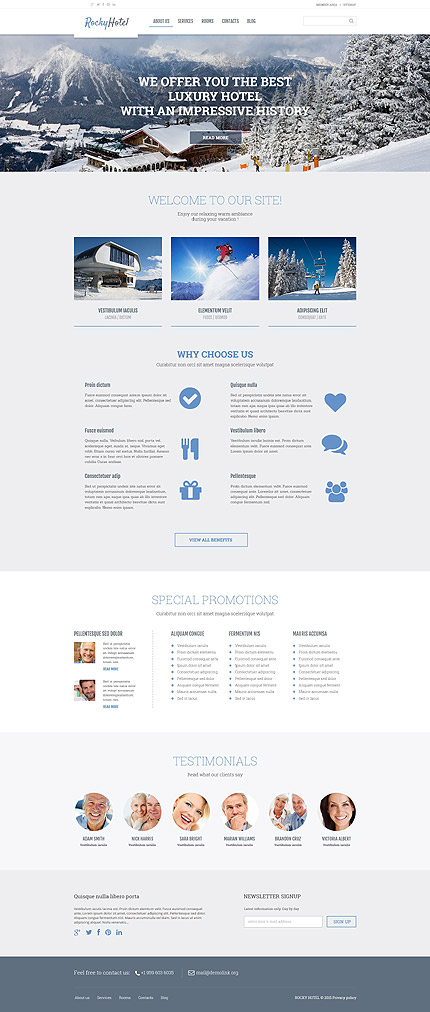 Hotels WordPress Template