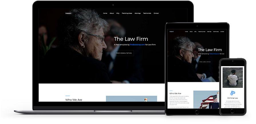 Скачать бесплатные шаблоны сайта по юридическим услугам