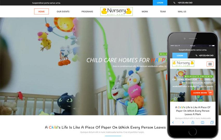 1baa4304dfa3 Nursery шаблон для сайта детского сада скачать бесплатно ...