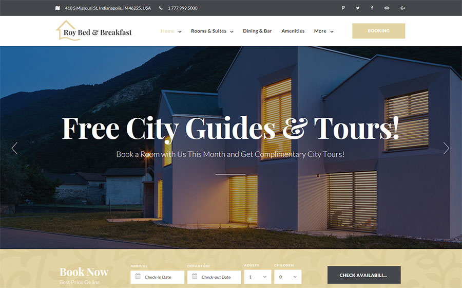 Hotel Booking WP Theme