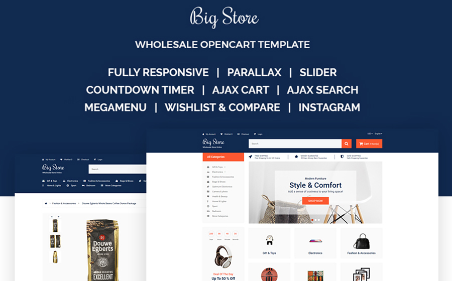 Big Store - Elegant Wholesale Online Shop OpenCart Template